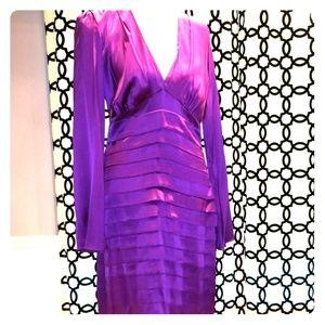 Anthropologie purple semi-formal dress